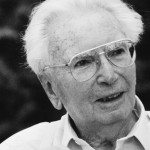 Portrait of austrian psychologist Viktor Frankl, Photograph, 1994